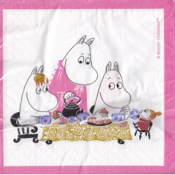 Moomin Paper Napkins Tea Party 33 x 33 cm