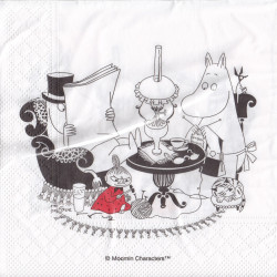 Moomin Paper Napkins Moominpappa Reading 33 x 33 cm