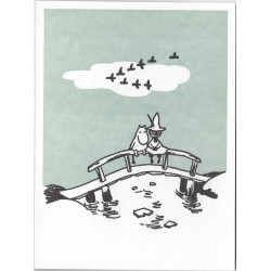 Moomin Greeting Card Letterpressed Bridge Putinki
