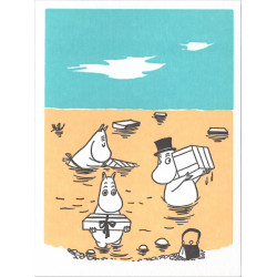 Moomin Greeting Card Letterpressed Seashore