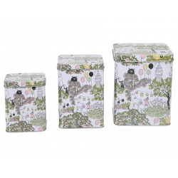 Moomin Garden Set of 3 Tin Boxes Lid with Hinges Martinex