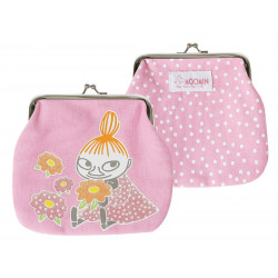 Moomin Medium Purse Little My Pink with White Dots Martinex