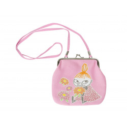 Moomin Purse with Shoulder Strap Pink with White Dots Little My Martinex