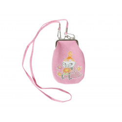 Moomin Phone Pouch with Shoulder Strap Little My Pink with White Dots Martinex