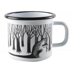 Moomin Enamel Mug Groke White 2.5 dl Muurla