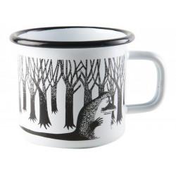 Moomin Enamel Mug Groke White 3.7 dl Muurla