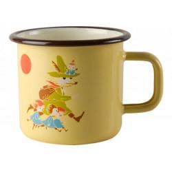 Moomin Enamel Mug Snufkin Vintage 3.7 dl Muurla