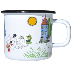 Moomin Enamel Mug Colors Moomin Valley 0.37 L Muurla