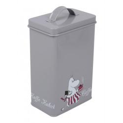 Moomin Tin Box Coffee Moominmamma Grey