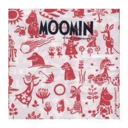 Moomin Napkins Characters Red 25 x 25 cm, 20 pcs Karto