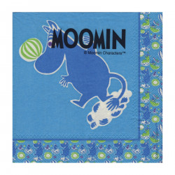 Moomin Napkins Moomintroll Blue 25 x 25 cm, 20 pcs Karto