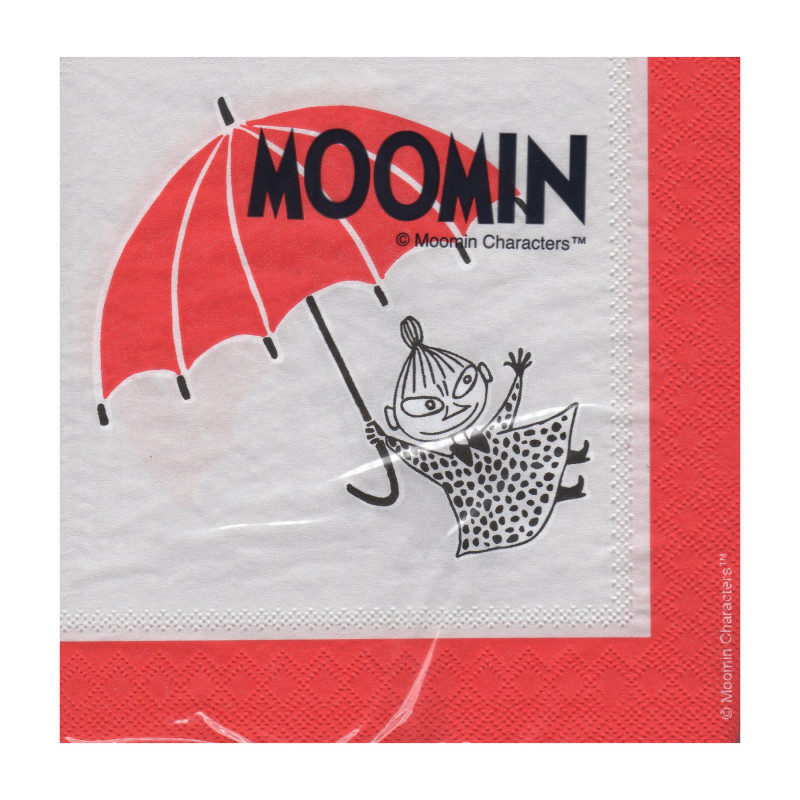 Moomin Napkins Little My 25 x 25 cm, 20 pcs Karto
