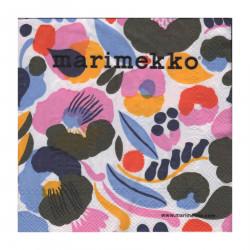 Marimekko Paper Napkins Hattarakukka White 25 x 25 cm, 20 pcs