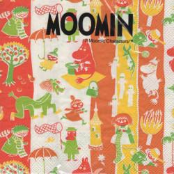 Moomin Paper Napkins Characters Orange 33 x 33 cm, 20 pcs