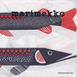 Marimenkko Paper Napkins Pike 33 x 33 cm, 20 pcs