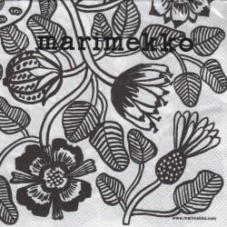 Marimekko Paper Napkins Tiara White 33 x 33 cm, 20 pcs