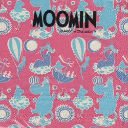 Moomin Paper Napkins CharactersPink 33 x 33 cm, 20 pcs