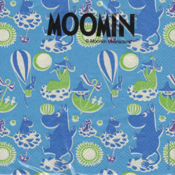 Moomin Paper Napkins Characters Blue 33 x 33 cm, 20 pcs