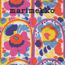 Marimekko Paper Napkins Carousel White 33 x 33 cm, 20 pcs