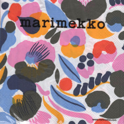 Marimekko Paper Napkins Hattarakukka White 33 x 33 cm, 20 pcs