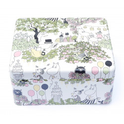 Moomin Garden Tin Box for Tea Bags Martinex