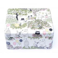 Moomin Garden Tin Box for Tea Bags Martinex