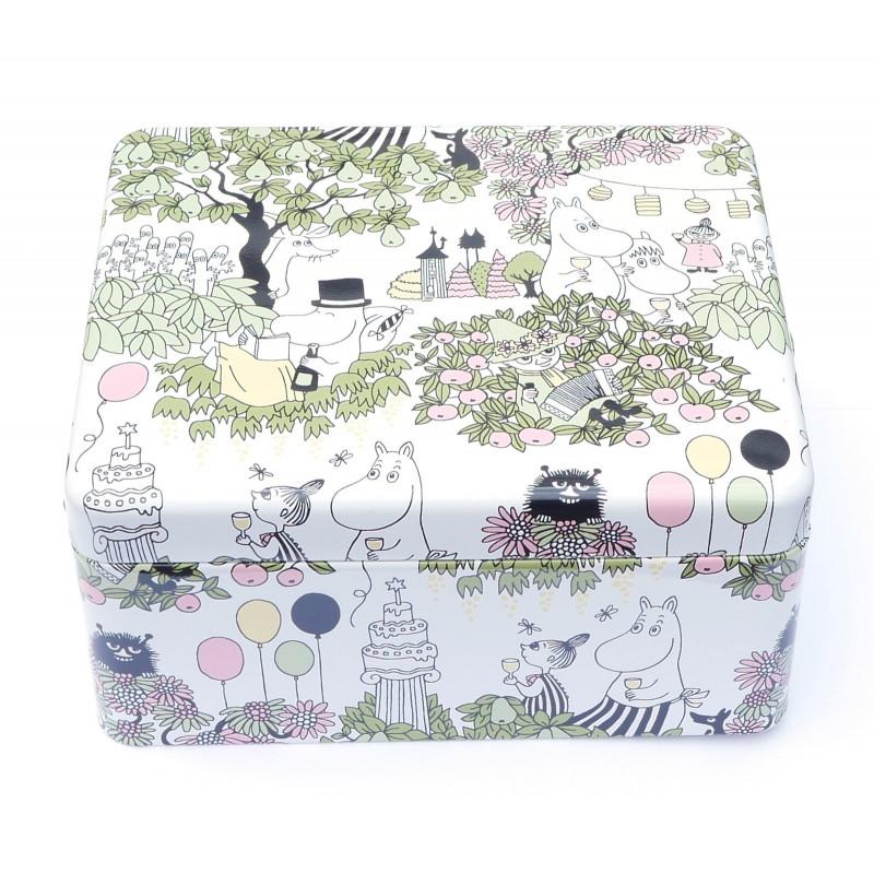 Moomin Garden Tin Box For Tea Bags Martinex Finland