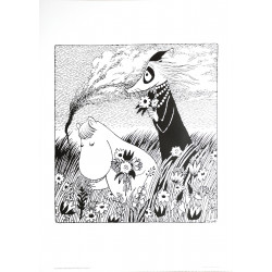 Moomin Poster Snorkmaiden Tove Jansson 50 x 70 cm