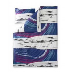 Moomin Duvet Cover Pillowcase Sky Moomin Turquoise 150 x210 cm 55 x 65 cm