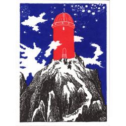 Moomin Greeting Card Letterpressed Observatory Putinki