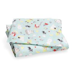 Moomin Baby Duvet Cover Pillow Case Taru Moomin Light Blue 85 x 125 cm