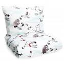 Moomin Duvet Cover Pillow Case Bed Set Snow White Aqua 120 x 160 cm