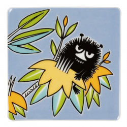 Moomin Deco Tree Wall Tile Stinky 89 x 89 mm Arabia