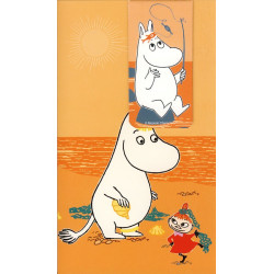 Moomin Card with Magnet Bookmark Moomintroll Karto