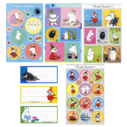 Moomin Stickers Labels Set of 5 x 3 Sheets Karto
