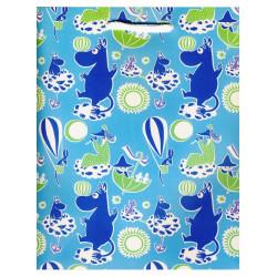 Moomin Present Paper Bag Turquoise Karto
