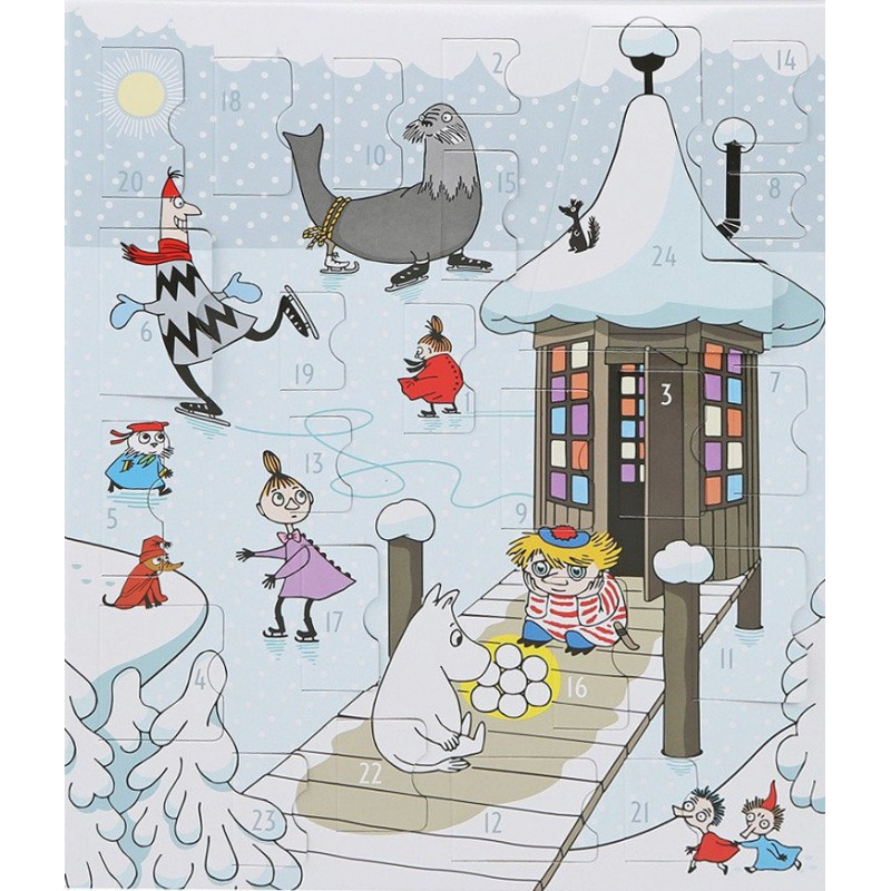 Moomin Christmas Advent Calendar with Plastic Figures 2016 Martinex