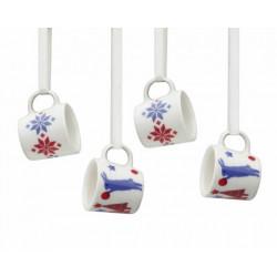 Tuike 4 Mini Mugs Christmas Tree Decoration Arabia