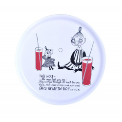 Moomin Birch Tray Round 31 cm Lemonade White