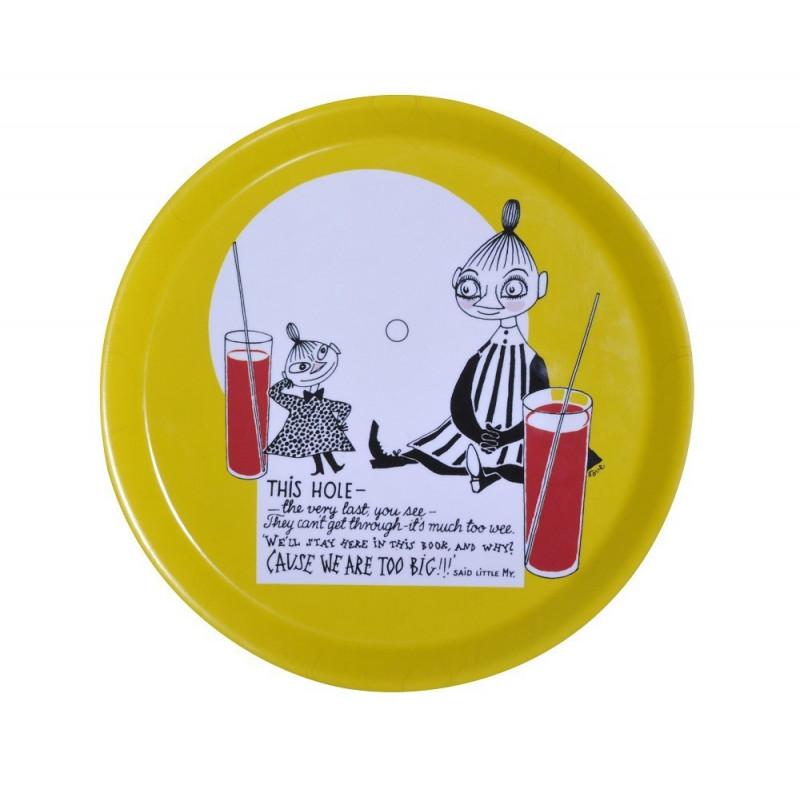 Moomin Birch Tray Round 25 cm Lemonade Yellow