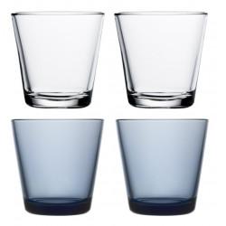 Kartio Glasses Set of 4 Rain and Clear 21 cl Iittala
