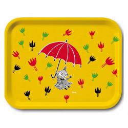 Moomin Birch Tray 36 x 28 cm Little My Umbrella Muurla