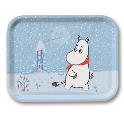 Moomin Birch Tray Snow 27 x 20 cm Muurla