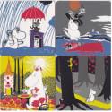 Moomin Coasters Moomin Sunshine 4 kpl / pkt 9 x 9 cm