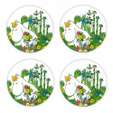 Moomin Coaters 4 pcs Snorkmaiden Summer 9 cm