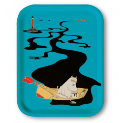 Moomin Birch Tray 27 x 20 cm River Blue