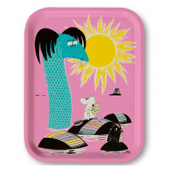 Moomin Birch Tray 27 x 20 cm Islands Pink