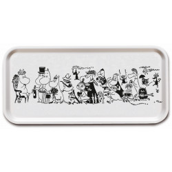 Moomin Birch Tray 32 x 15 cm Birthday Black and White