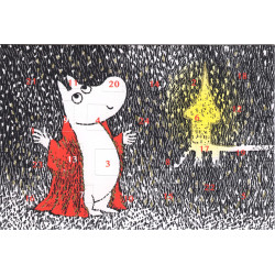 Moomin Advent Postcard Calendar Troll Candle