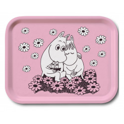 Moomin Birch Tray Love Pink 27 x 20 cm